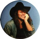 Bon Jovi - 'Jon Cowboy Hat' 56mm Badge